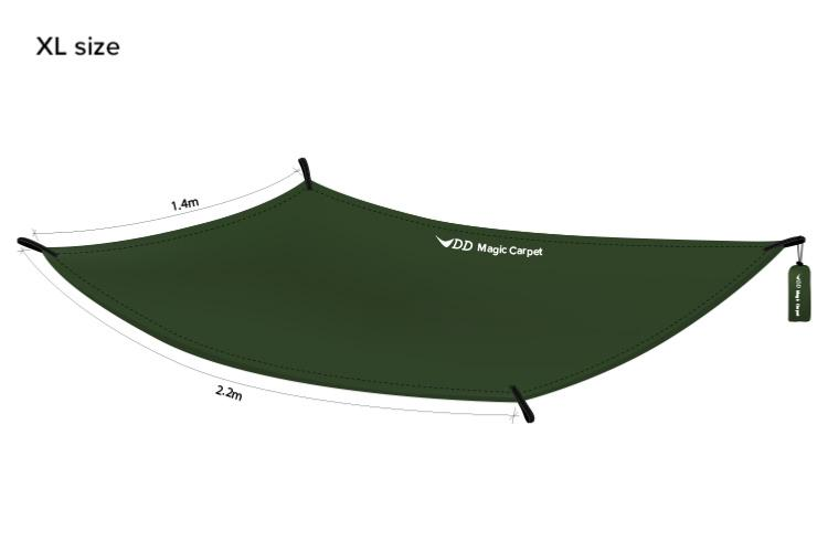 DD Hammocks - Magic Carpet XL (revêtement sol/mini tarp)