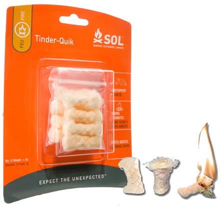 Adventure Medical Kits - SOL Allume feu Tinder Quick (12 unités)