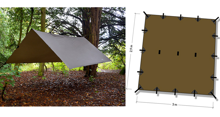 DD Hammocks - Superlight Tarp 3 x 2,9 m