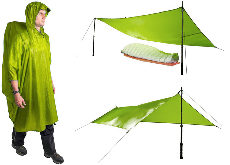 Sea to Summit - Poncho/Tarp Ultra-Sil Nano  - Vert