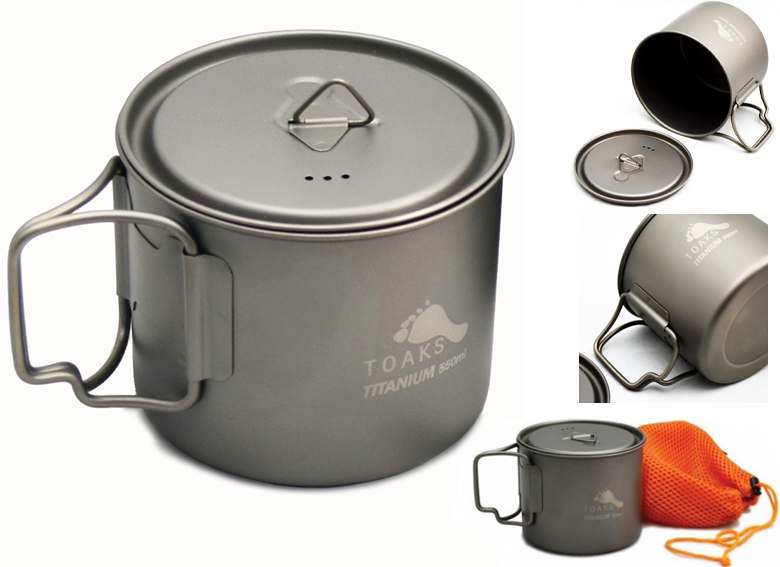 TOAKS - Titanium 550 ml Pot 95mm (version Ultralight)